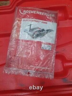 ^Rothenberger Supertronic 2000 Pipe Threader, threading machine 5/50