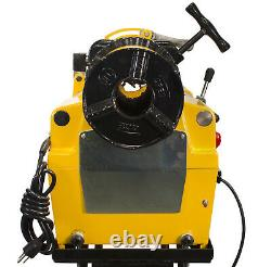 Steel Dragon Tools 7090 Pro Pipe Threader Threading Machine with Cart 811A Dies