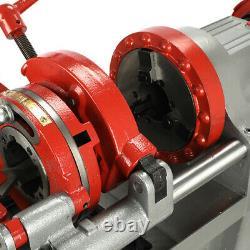 Threading Machine 110V Electric Pipe Threader Tool (1/2 2) Threading Cutter