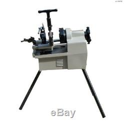 Toolots Bolt and Pipe Threading Machine 1/2 to 2 NPT Threader Deburrer 1.5HP