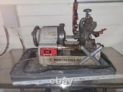 USED Rothenberger Supertronic 2SE 1/2-2 NPT Pipe Threading Machine 63004