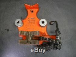 Used Nice Ridgid BC-810 Chain Vise For Pipe Threader Threading Machine W1