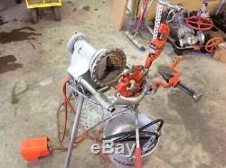 Used Ridgid 300 Pipe Threader Threading Machine with 318 Oiler and oil