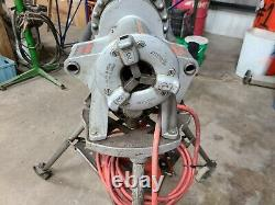 Used Ridgid Industrial 300 T-2 Pipe Reversible Threader Machine With Tripod 115v