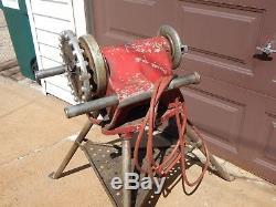 Vintage Ridgid Model 300 Electric Pipe Threader Threading Machine & Extras
